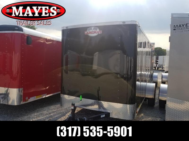 "2019 6x12 Cargo Mate SS612SA Enclosed Cargo Trailer - Black (RD)(GVW: 2990)(6"" Extra Height)"