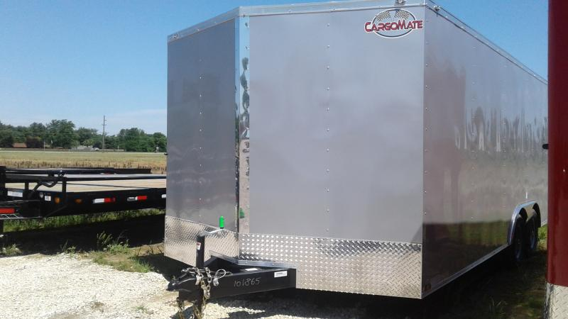 2020 102x20 TA Cargo Mate EHW8.520TA3 Enclosed Cargo Trailer - Ramp Door - D-Rings (GVW:  9800)