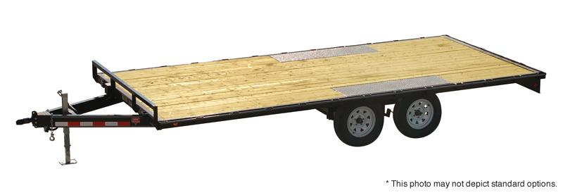 "2018 101x20 PJ Trailers Med. Duty Deckover L6 6"" Channel Trailer - Straight Deck w/ Slide-in Ramps (GVW: 9899)"