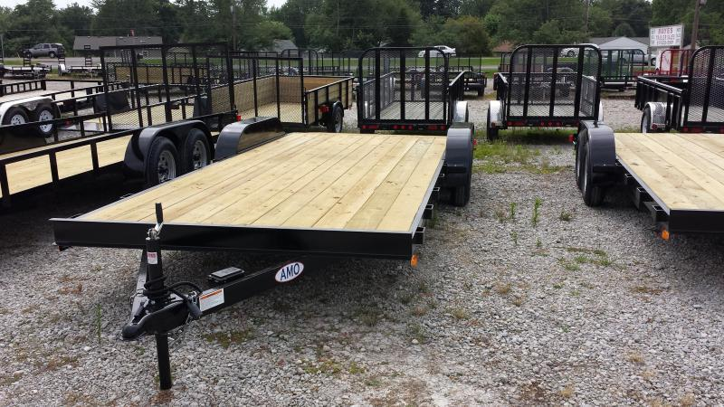 2017 82x20(16+4' Dovetail) American Manufacturing Operations AF20TTBBXWRDN Car / Racing Trailer - w/ 5' Slide-out Ramps (GVW: 7000)