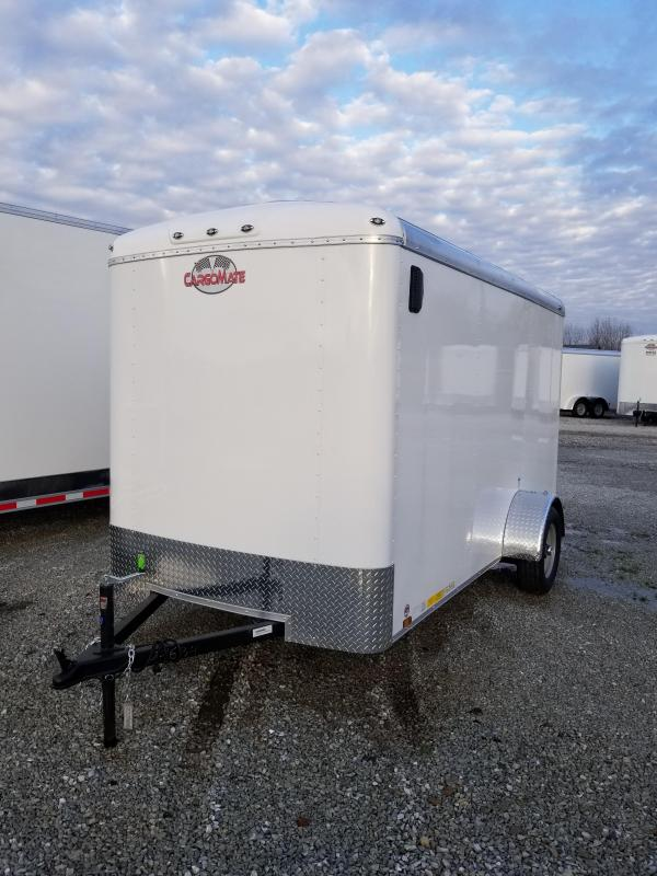 "2018 6x12 Cargo Mate BL612SA Cargo / Enclosed Trailer - Polar White (RD)(GVW: 2990)(6"" Extra Height)"