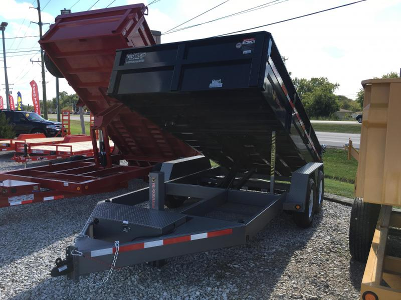 2017 82x14 be b Wise DLP14-15 Dump Trailer - (Split/Spreader Gate)(Ramps)(GVW: 15400)