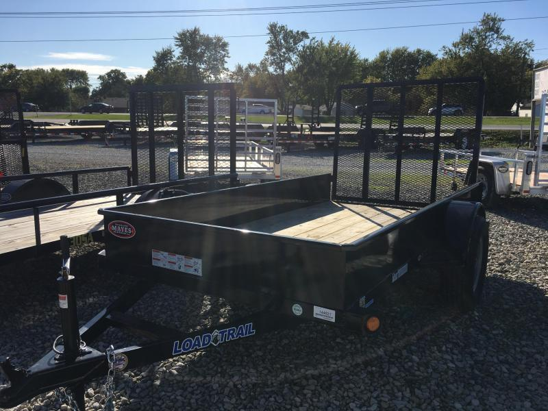 2017 5x10 Load Trail SS60 Utility Trailer - Straight Deck w/ 4' Gate (GVW: 3000)(Solid Sides)