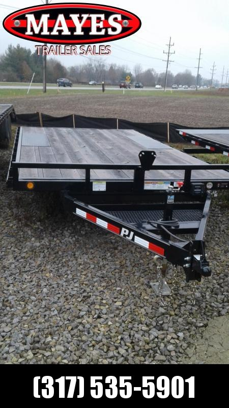 2019 96x16 PJ Trailers L5 Flatbed Trailer - Straight Deck w/ 6' Slide-in Ramps (GVW: 7000)