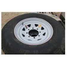 235/80R16 Provider 8 lug White Spoke Wheel