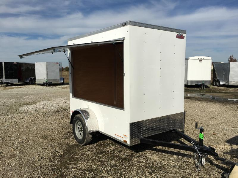 2016 Special Price 5x8 Cargo Mate EHW58SA Enclosed Cargo Trailer - White (18