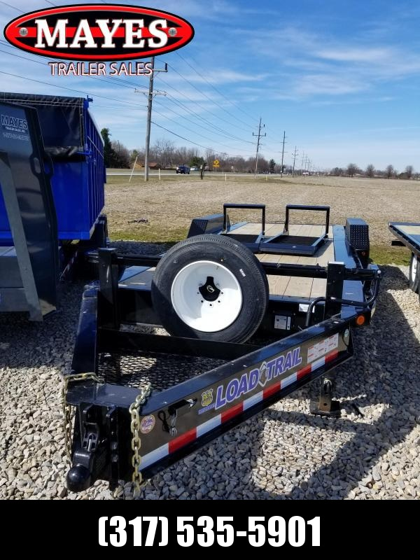 2018 82x22(20+2' Dovetail) Load Trail EH Equipment Trailer - w/ 5' Fold-up Ramps (GVW: 20000)(Spare Tire Mount)