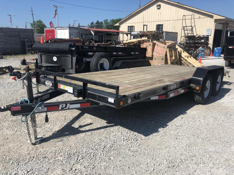 2017 83x18 PJ Trailers CE Equipment Trailer - Straight Deck w/ 5' Slide-in Ramps (GVW: 9899) *USED*