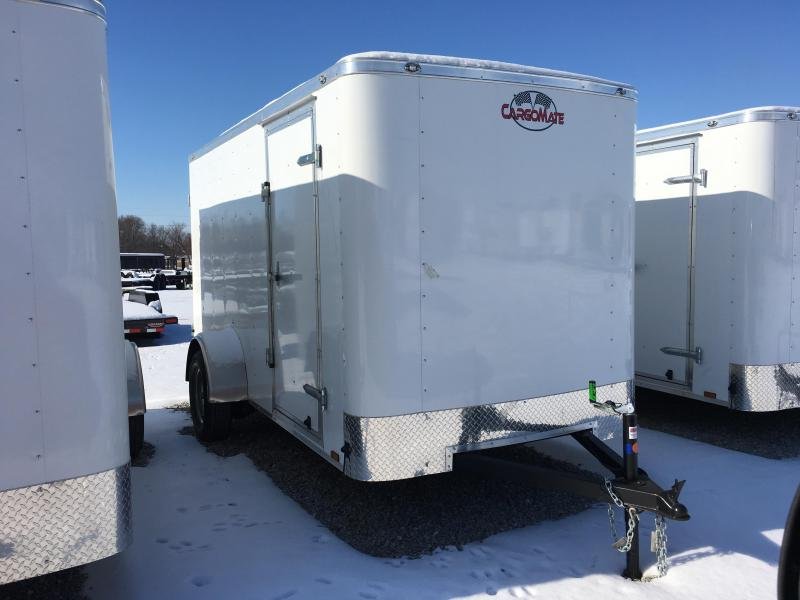 "2018 6x12 Cargo Mate SS612SA Enclosed Cargo Trailer - Polar White(DD)(6"" Extra Height)(GVW: 2990)"