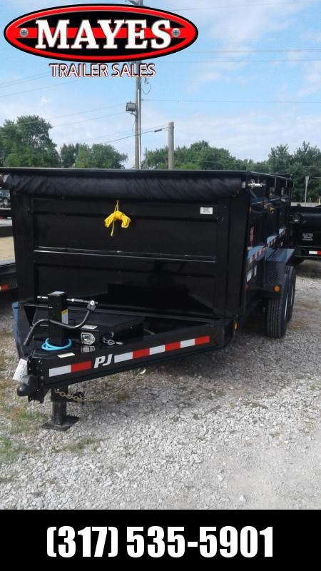 2020 83x14 TA High Side PJ Trailers DM142 Dump Trailer  - Split/Spread Gate - Tarp Kit (GVW:  14000)
