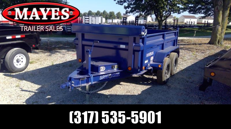 2020 60x10 TA Load Trail DT6010032 Dump Trailer - Scissor Hoist - Spare Tire MOUNT ONLY - D-Rings (GVW:  7000)