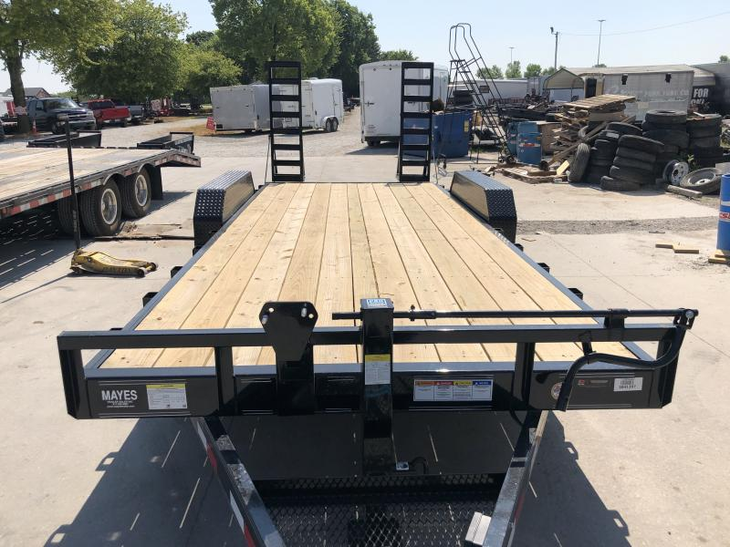 202020 (18+2) TA PJ Trailers CC202 Equipment Trailer - Dovetail - Fold-Up Ramps (GVW:  14000)