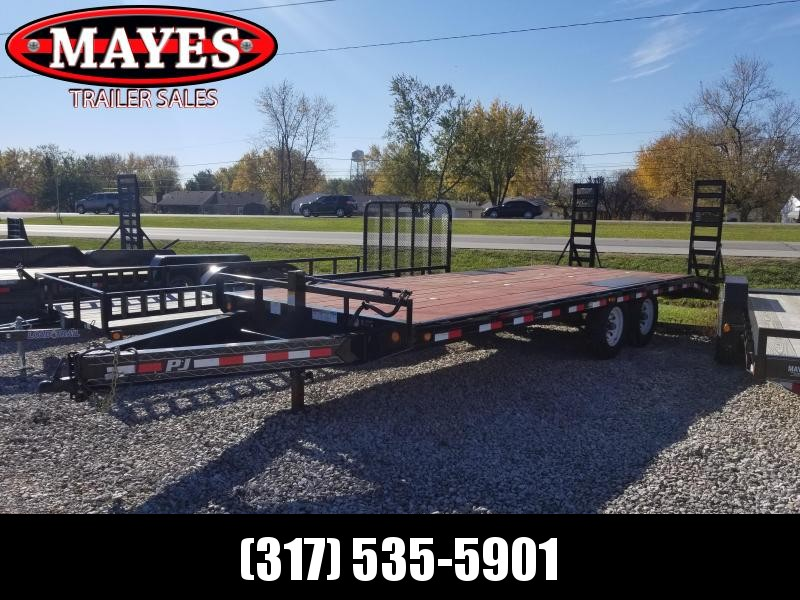 "2018 22' Deckover PJ Trailers F8222 Equipment Trailer - 22' 8"" I-Beam Deckover (GVW:  14000)"