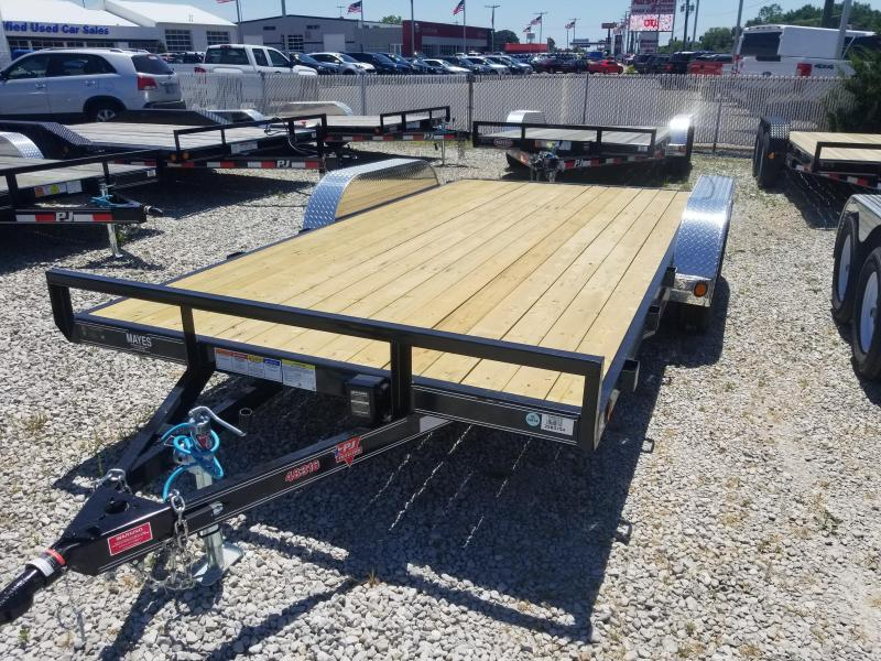 "2019 83x16(14+2' Dovetail) PJ Trailers C4 4"" Channel Carhauler Trailer - w/ 5' Slide-in Ramps (GVW: 7000)"