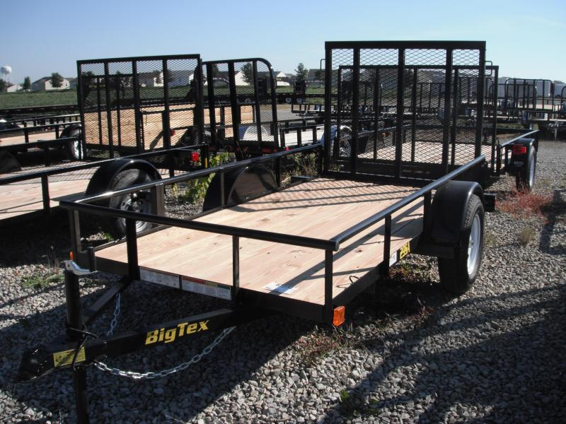 2014 5x10 Big Tex Trailers 29SA Utility Trailer - (SA)(4' Ramp Gate) w/ Spare Mount
