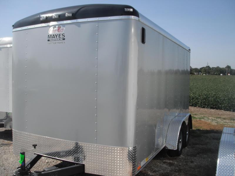 2015 7x14 Cargo Mate BL714TA2 Cargo / Enclosed Trailer - Diamond Ice (RD)