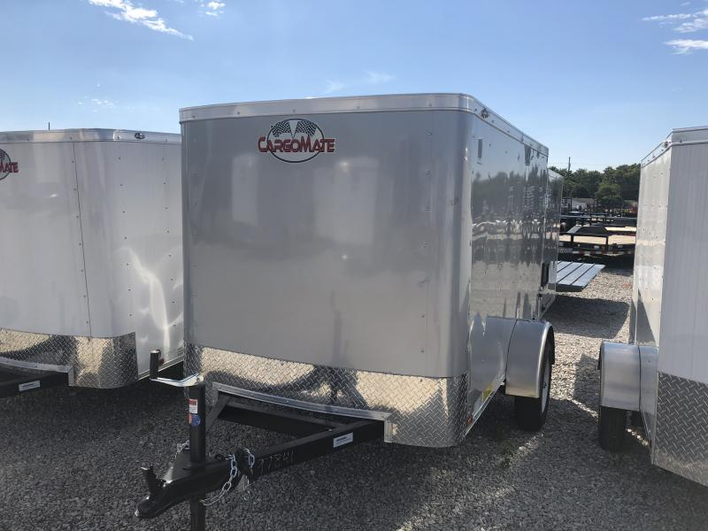 2019 5x8 Cargo Mate SS58SA Enclosed Cargo Trailer - Diamond Ice (Rear Swing Door)(GVW: 2000)