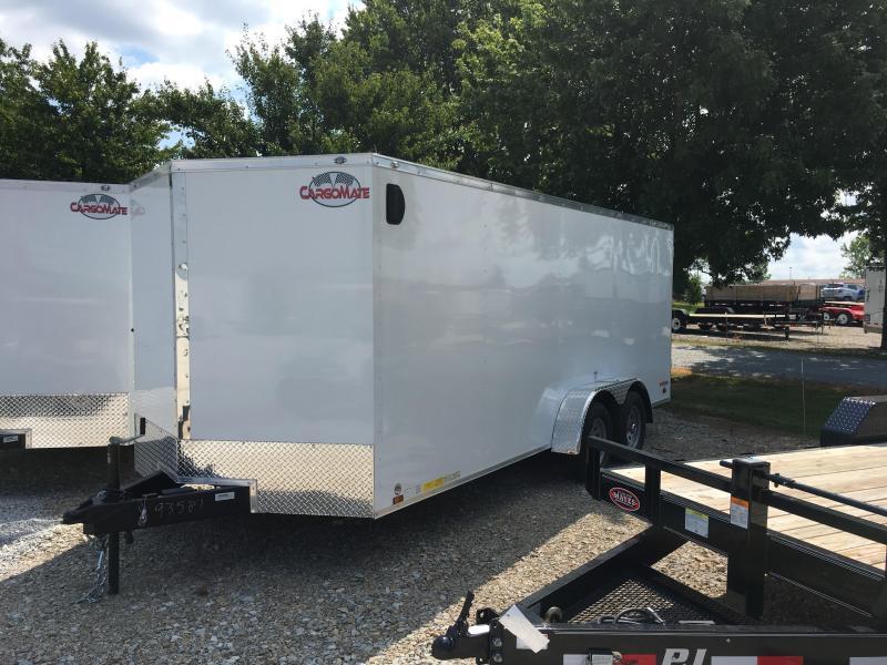 2018 7x18 Cargo Mate EHW718TA2 Enclosed Cargo Trailer - Polar White (RD)(GVW: 7000)