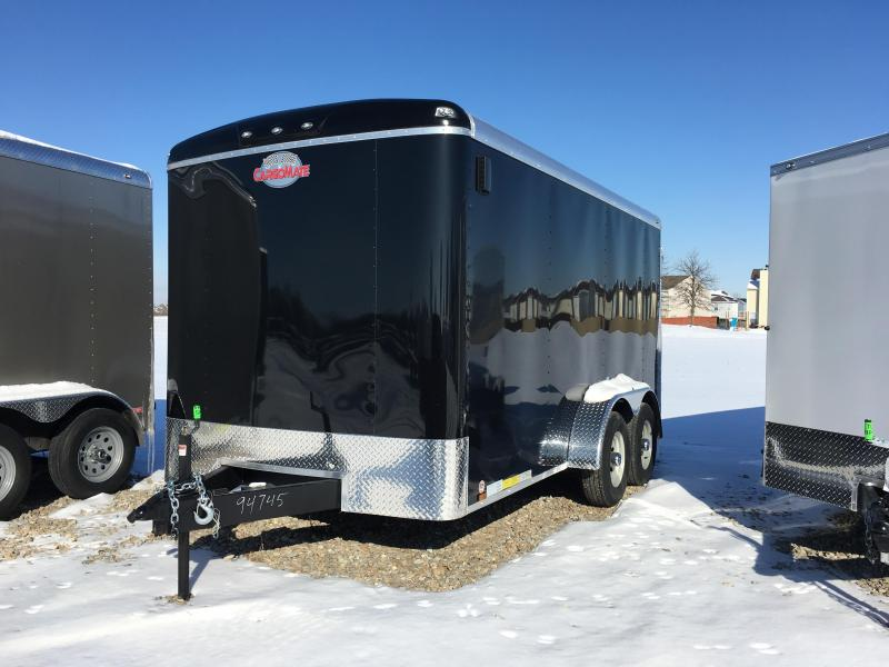 2018 7x14 Cargo Mate BL714TA3 Enclosed Cargo Trailer - Black (RD)(GVW: 9800)
