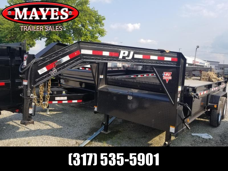 2019 83x16 PJ Trailers DL Low Pro Dump Trailer - (Tarp Kit)(Split / Spreader Gate)(GVW: 14000)
