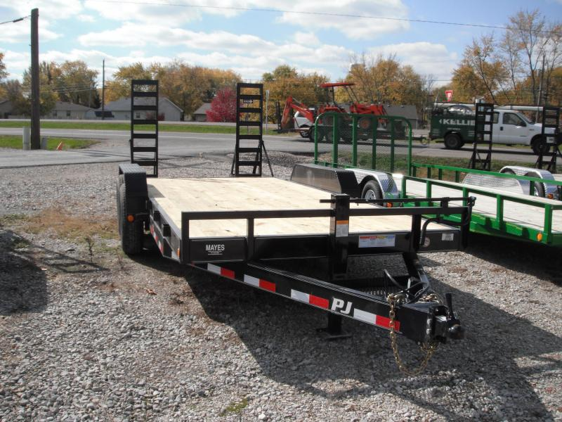 2015 83x18(16+2') PJ Trailers 6 Channel Equipment Utility Trailer - w/ 5' Fold-up Ramps