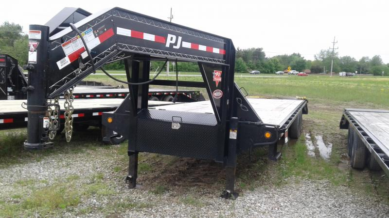 2018 32' (27+5) PJ Trailers FD322 Equipment Trailer - Flip Over Monster Ramps (GVW:  25000)