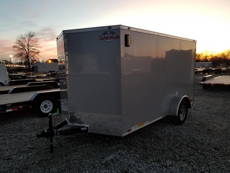 2019 7x12 Cargo Mate EHW712SA Enclosed Cargo Trailer - Diamond Ice (RD)(GVW: 3500)(Brakes)