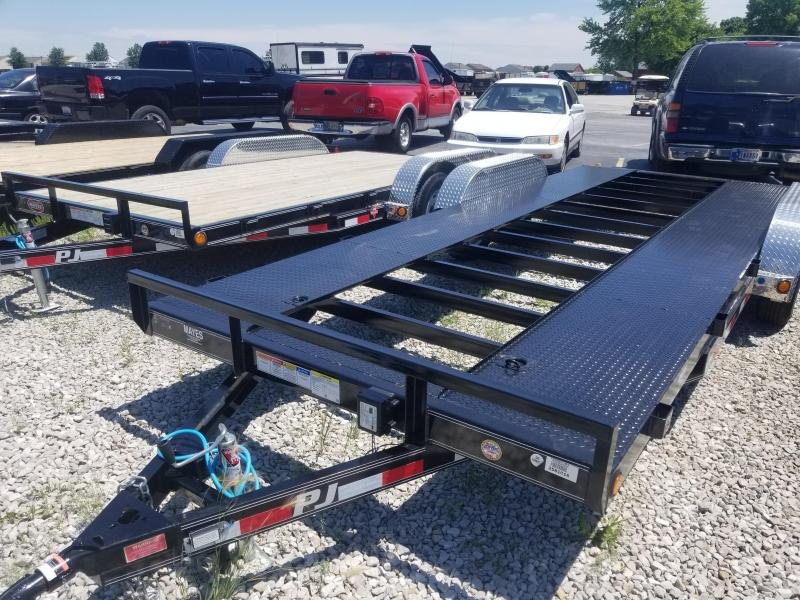 "2019 83x20(18+2' Dovetail) PJ Trailers C5 5"" Channel Carhauler Trailer - w/ 5' Rear Slide-in Ramps (GVW: 7000) *Open Pit Car Hauler*"