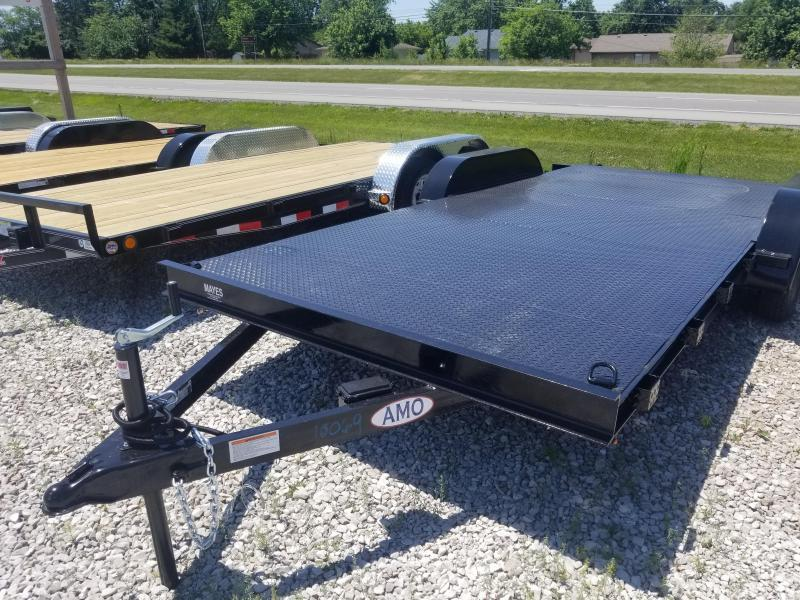 2019 82x18 American Manufacturing Operations AFD18BB Car / Racing Trailer - w/ 5' Slide-in Ramps (GVW: 7000) *Steel Floor*