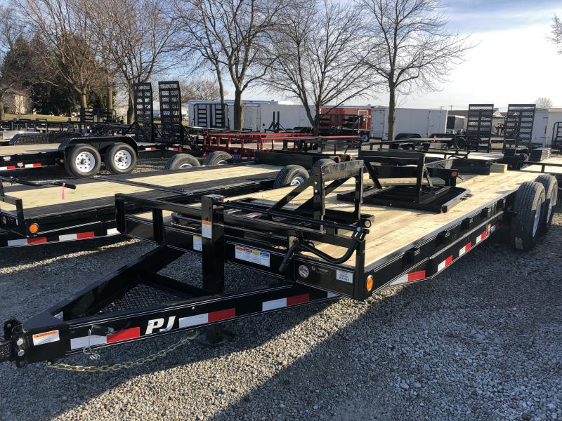2019 83x22(20+2' Dovetail) PJ Trailers CC222 Trailer - w/ Split HD Gate (GVW: 14000)