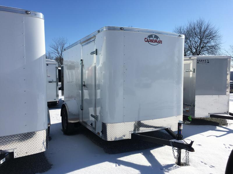 "2018 6x10 Cargo Mate SS610SA Enclosed Cargo Trailer - White (DD)(6"" Extra Height)(GVW: 2990)"
