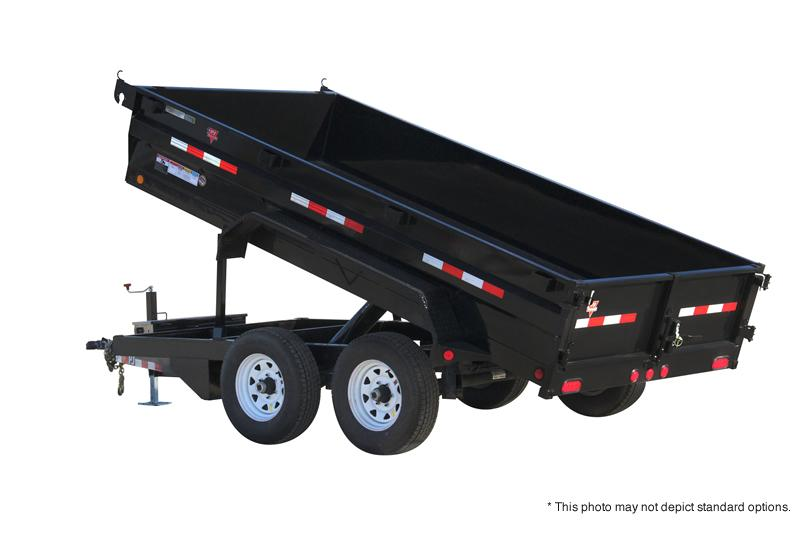 "2019 72x12 PJ Trailers D3 72"" Tandem Axle Dump Trailer - (Split/Spreader Gate)(Tarp Kit)(GVW: 9899)(Spare Tire and Mount)"