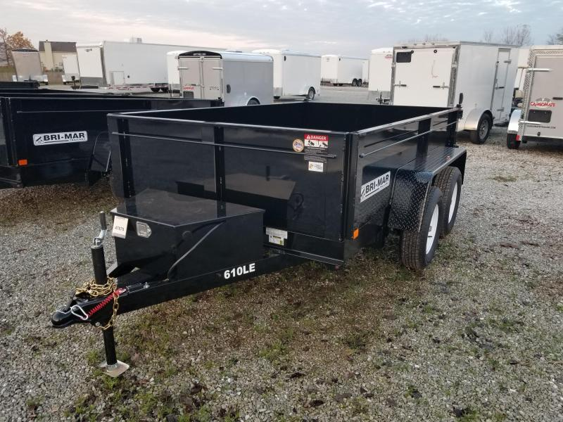2018 6x10 Bri-Mar DT610LP-LE-10 Dump Trailer - (Split/Spreader Gate)(GVW: 7000)