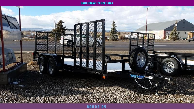 2018 Top Hat Trailers 16X83EA Open Utility Trailer