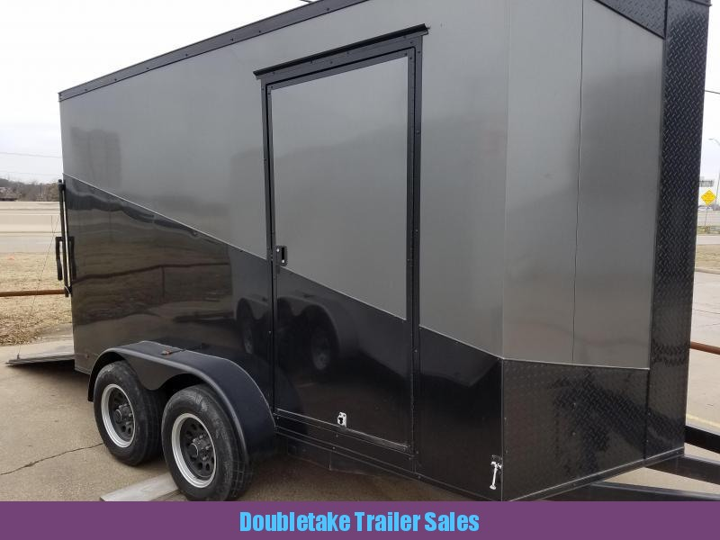 2019 Salvation Trailers S7X12TA Motorcycle Trailer