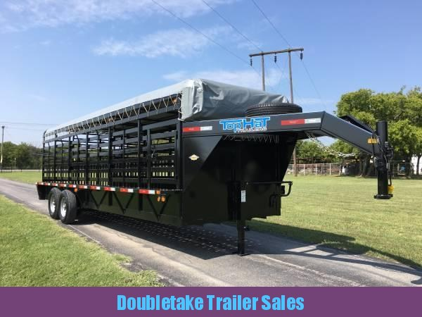 2018 Top Hat Trailers 68 X 24 BRAHMA GN Livestock Trailer