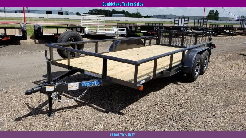 2019 Top Hat Trailers 16X83MP Open Utility Trailer