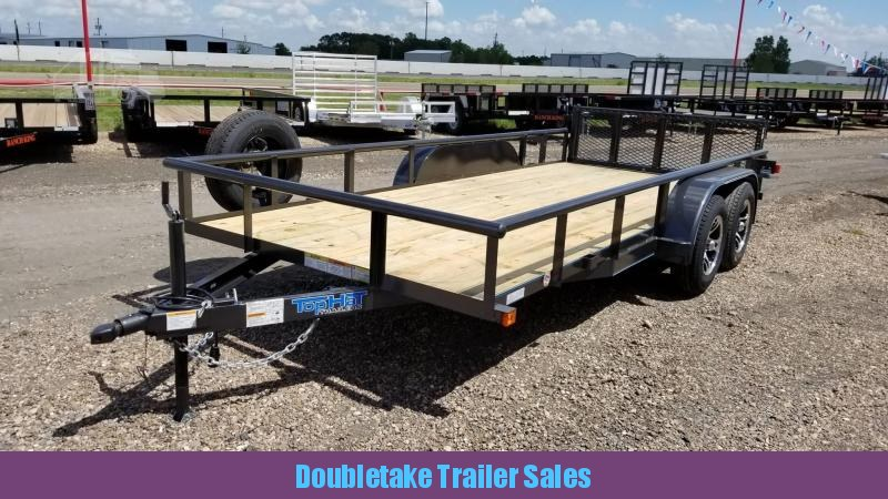 2018 Top Hat Trailers 16X83MP Open Utility Trailer
