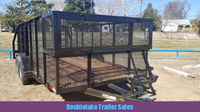 2019 Salvation Trailers S83X16LS Open Landscape Trailer