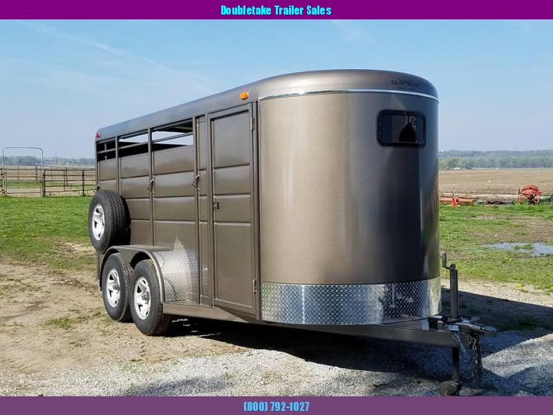 "Calico 6 x 6'6"" x 16 3H BP Slant Load Horse Trailer"