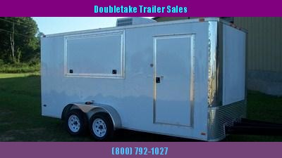 7 X 14 White Vending Trailer - Concession Trailer