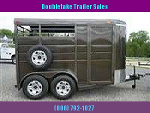 "Calico 6'8"" x 7 x 13 2H BP Slant Load Horse Trailer w/ Drop Down Windows"