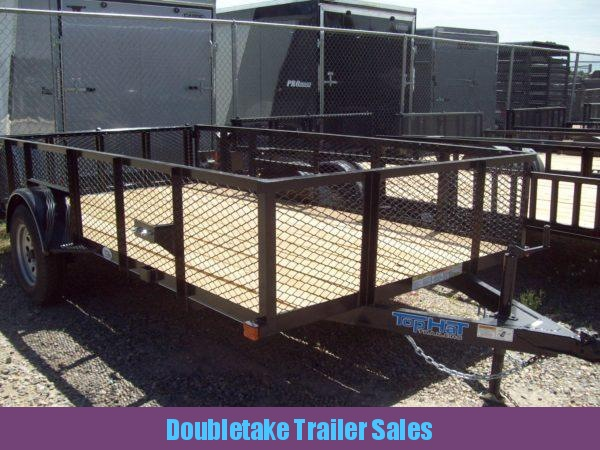 2018 Top Hat Trailers 12X83MRAX Open Utility Trailer