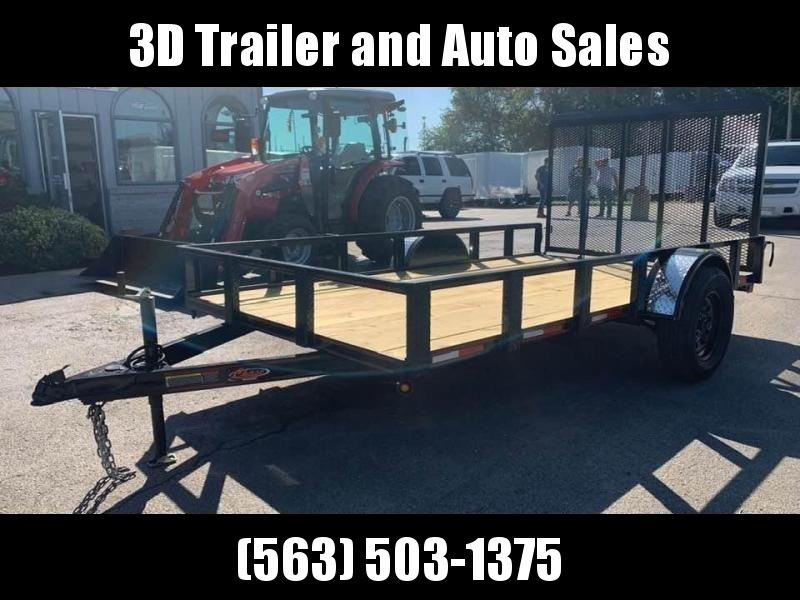 2019 Chase Trailers 7' x 14' Open Utility Trailer w/ 4'  Assisted Gate