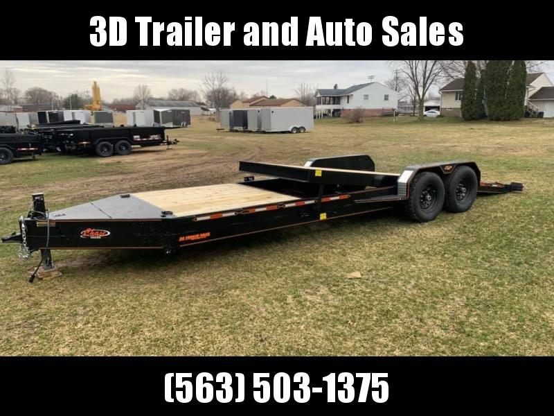 2020 Chase Trailers 24' 14K Split Deck Tilt Bed Equipment Trailer