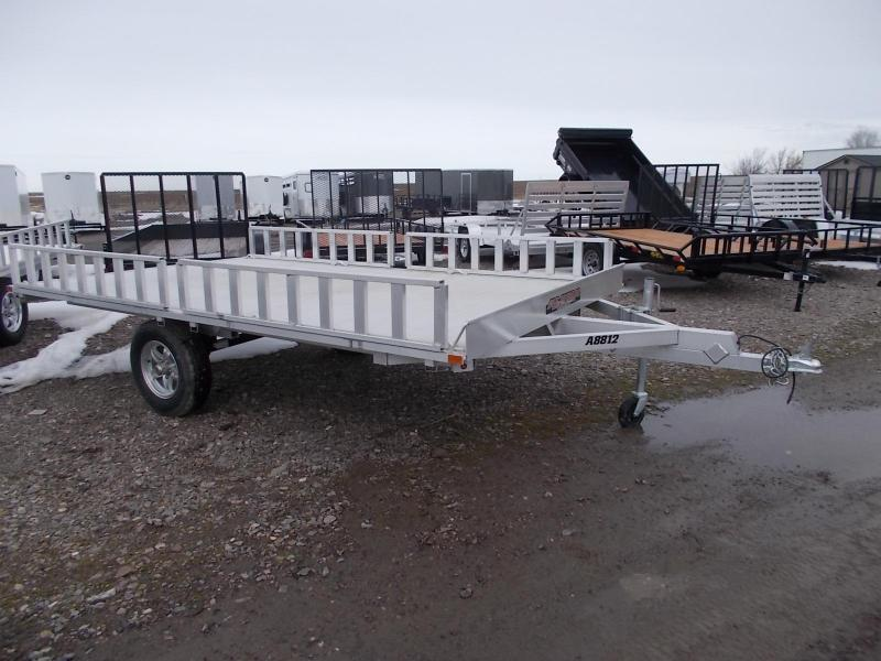 2016 Aluma 8812 3 place ATV trailer