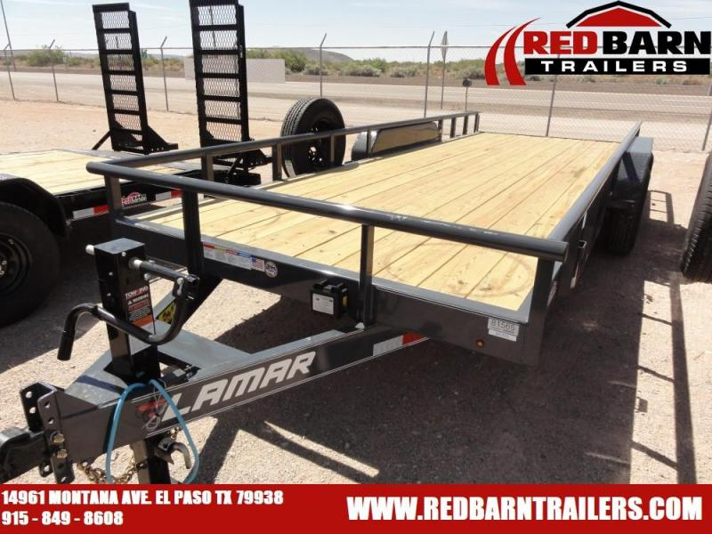 7 X 18 2019 Lamar Trailers U68314 Utility Trailer @RED BARN TRAILERS