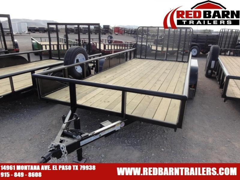 7 X 16 2019 GR Trailers UT7016WR07L Utility Trailer @RED BARN TRAILERS