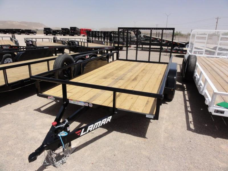 2019 Lamar Trailers NO BRAKES Utility Trailer @RED BARN TRAILERS