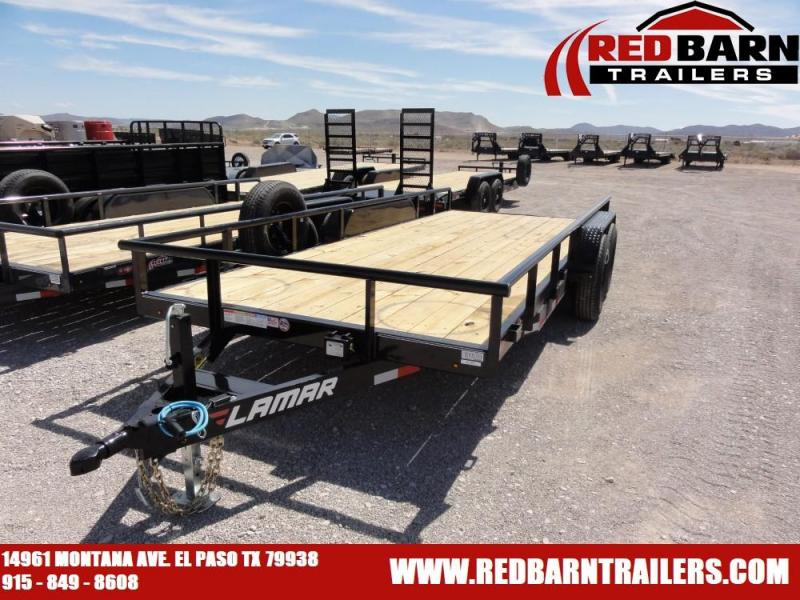 7 X 18 2019 Lamar Trailers U58316 Utility Trailer @RED BARN TRAILERS